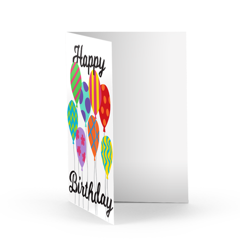 Birthday Balloon Bunch Greeting Card