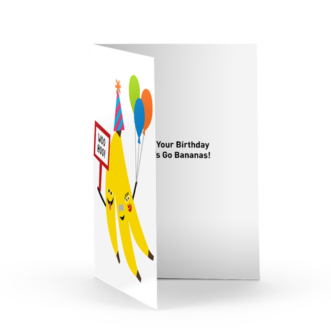 Birthday Bananas Greeting Card