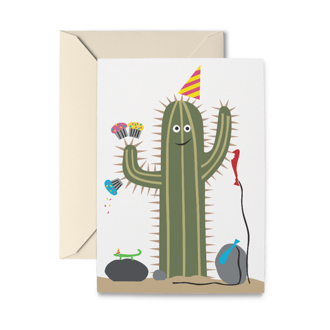 Birthday Cactus Greeting Card