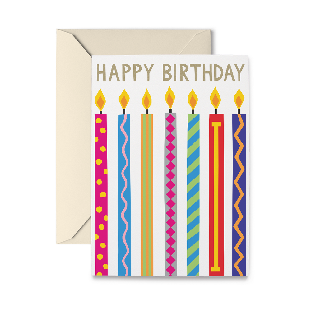 Birthday Candles Greeting Card