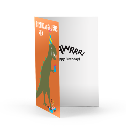 Birthday Rex Greeting Card