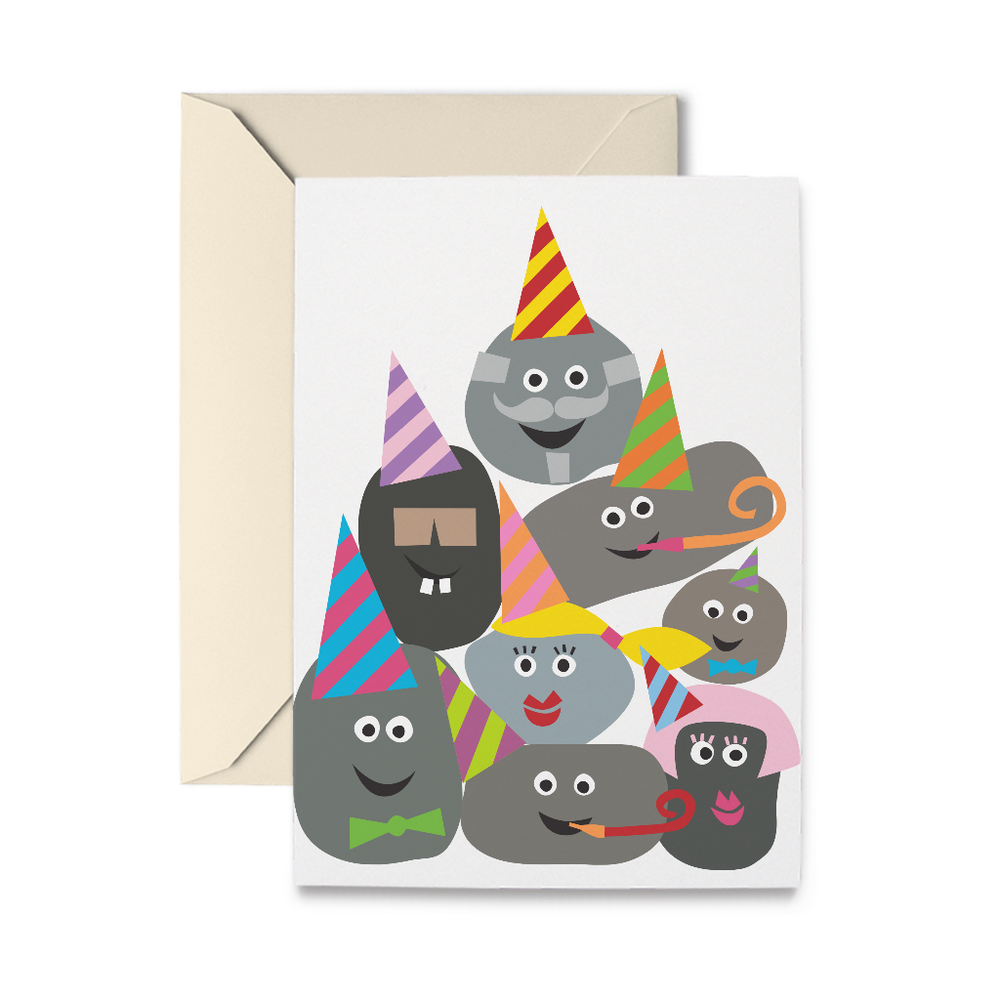 Birthday Rocks Greeting Card