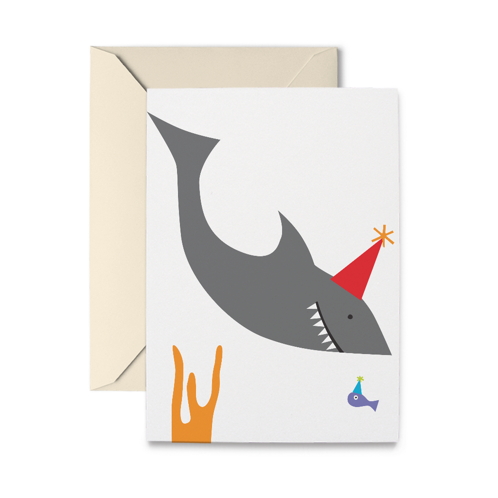 Birthday Shark Greeting Card
