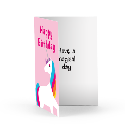 Birthday Unicorn Greeting Card