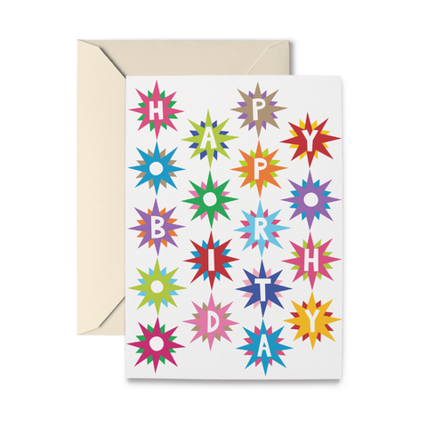 Birthday Starbursts Greeting Card