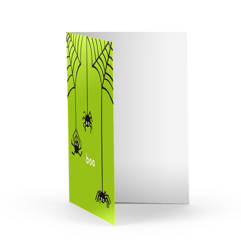 Boo Spiders Greeting Card