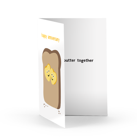 Butter Anniversary Greeting Card