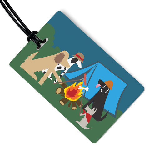 Doggie Campfire Luggage Tag