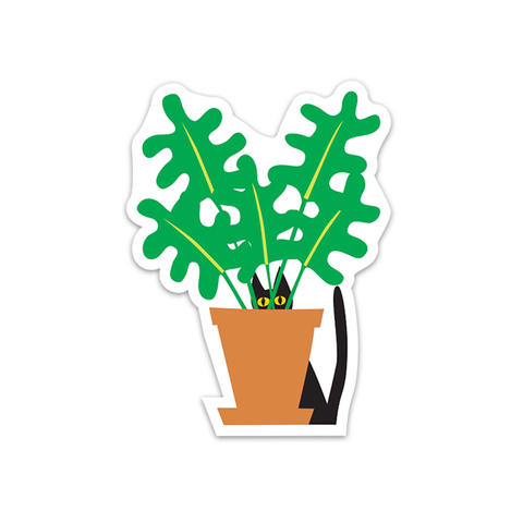 Cat in Plant Sticker