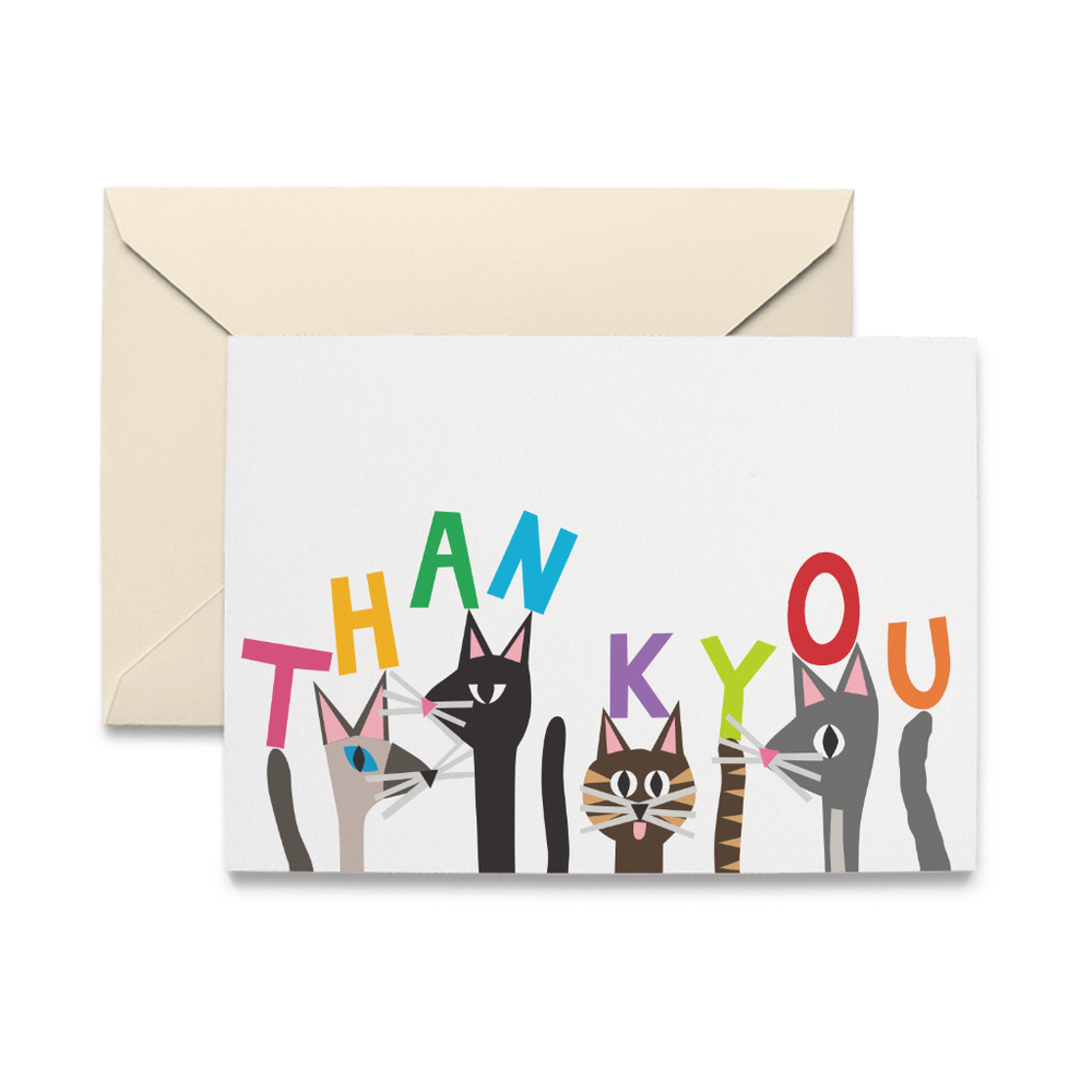 Cat Pack Thank You Note Cards