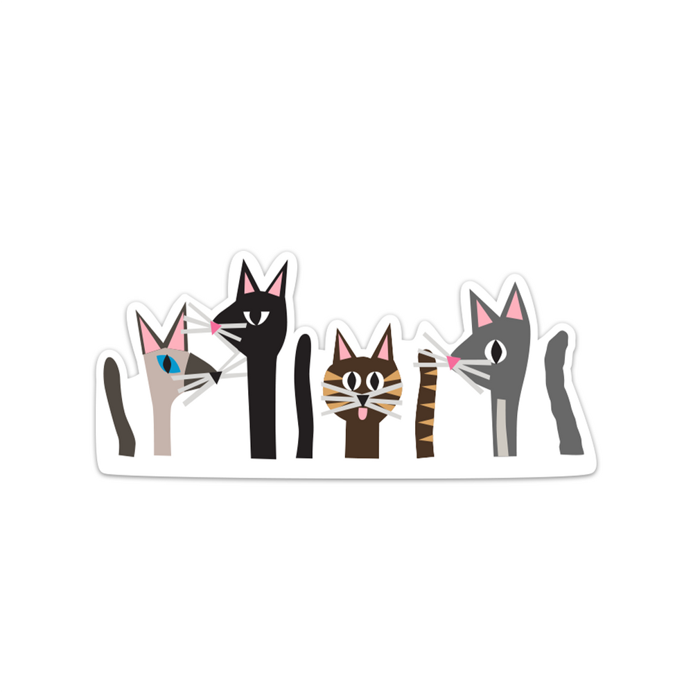 Cat Pack Sticker