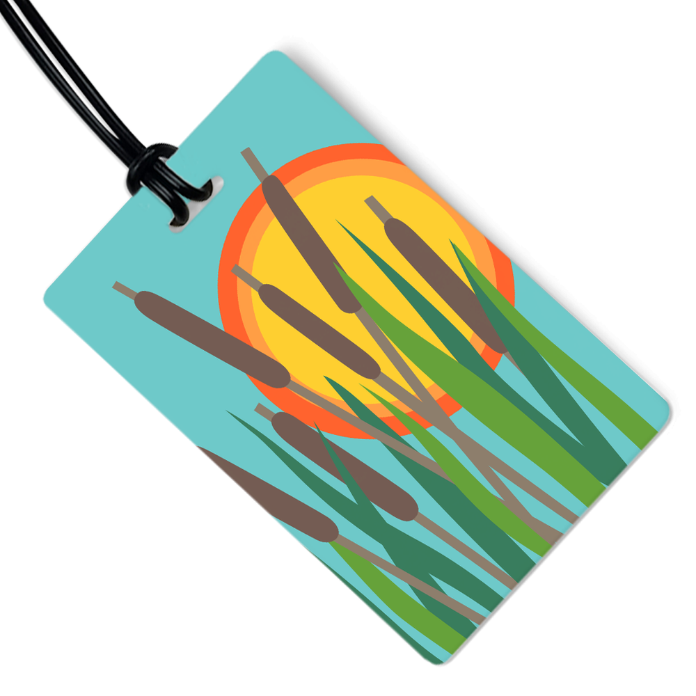 Cattails Luggage Tag