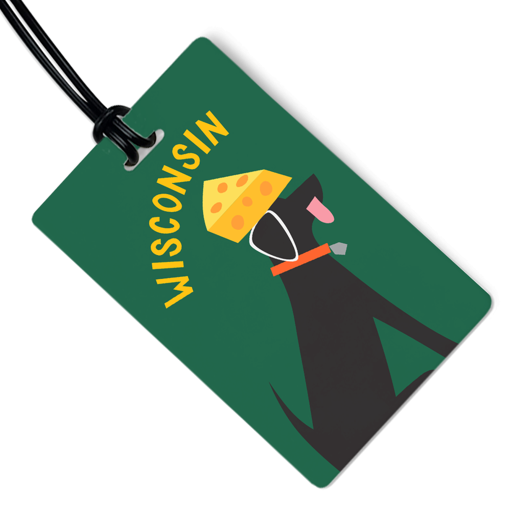 Cheese Head Luggage Tag