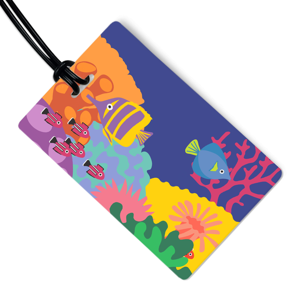 Coral Reef Luggage Tag