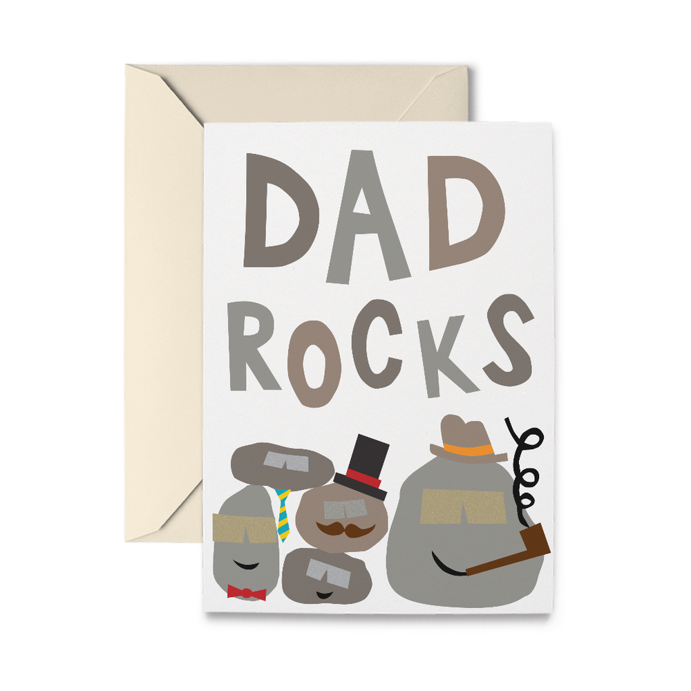 Dad Rocks Father's Day Card