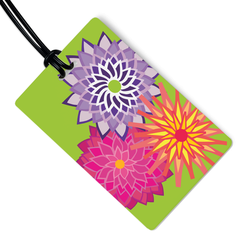 Dahlias Luggage Tag