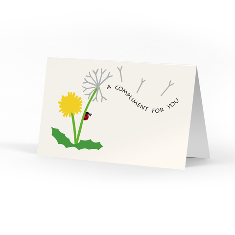 Dandelion Compliment Cards