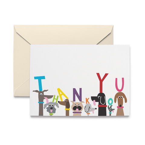 Dog Pack Thank You Note Cards
