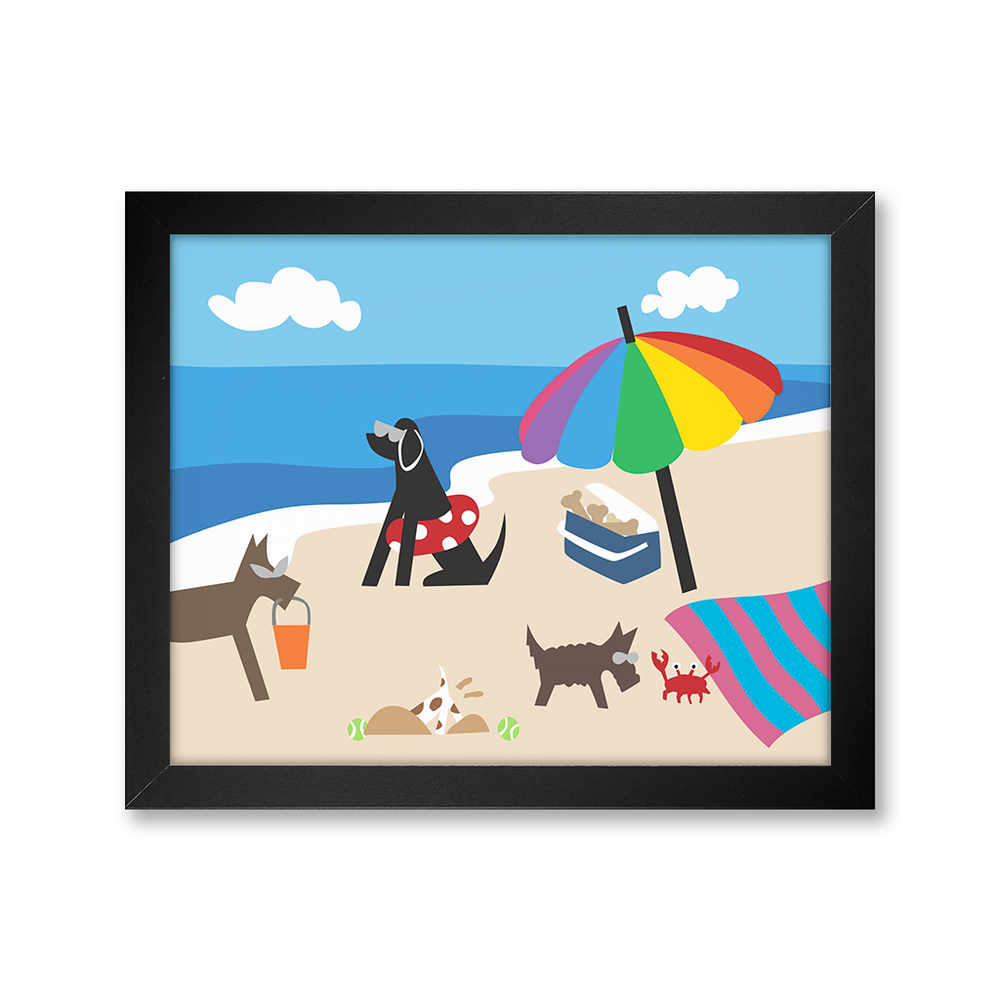 Doggie Beach Bums, Limited Edition Print