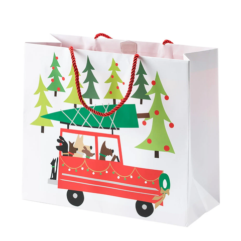 Holiday Doggy Tree Adventure Large Gift Bag