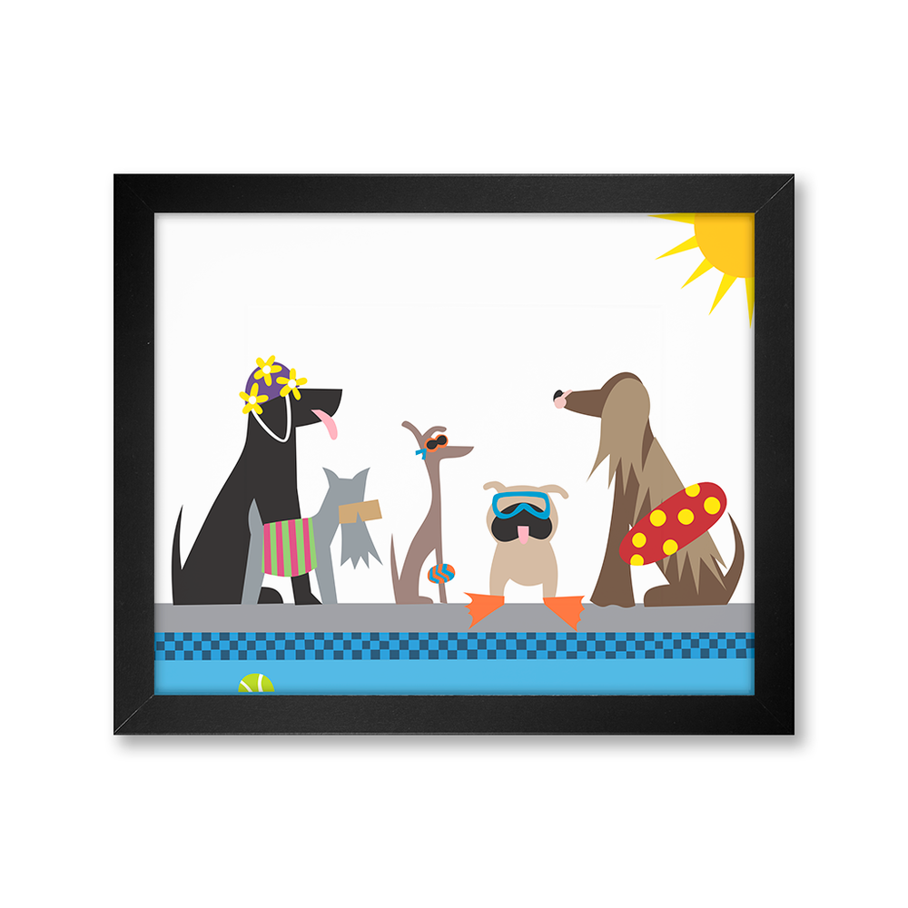 Doggie Swim Party Print