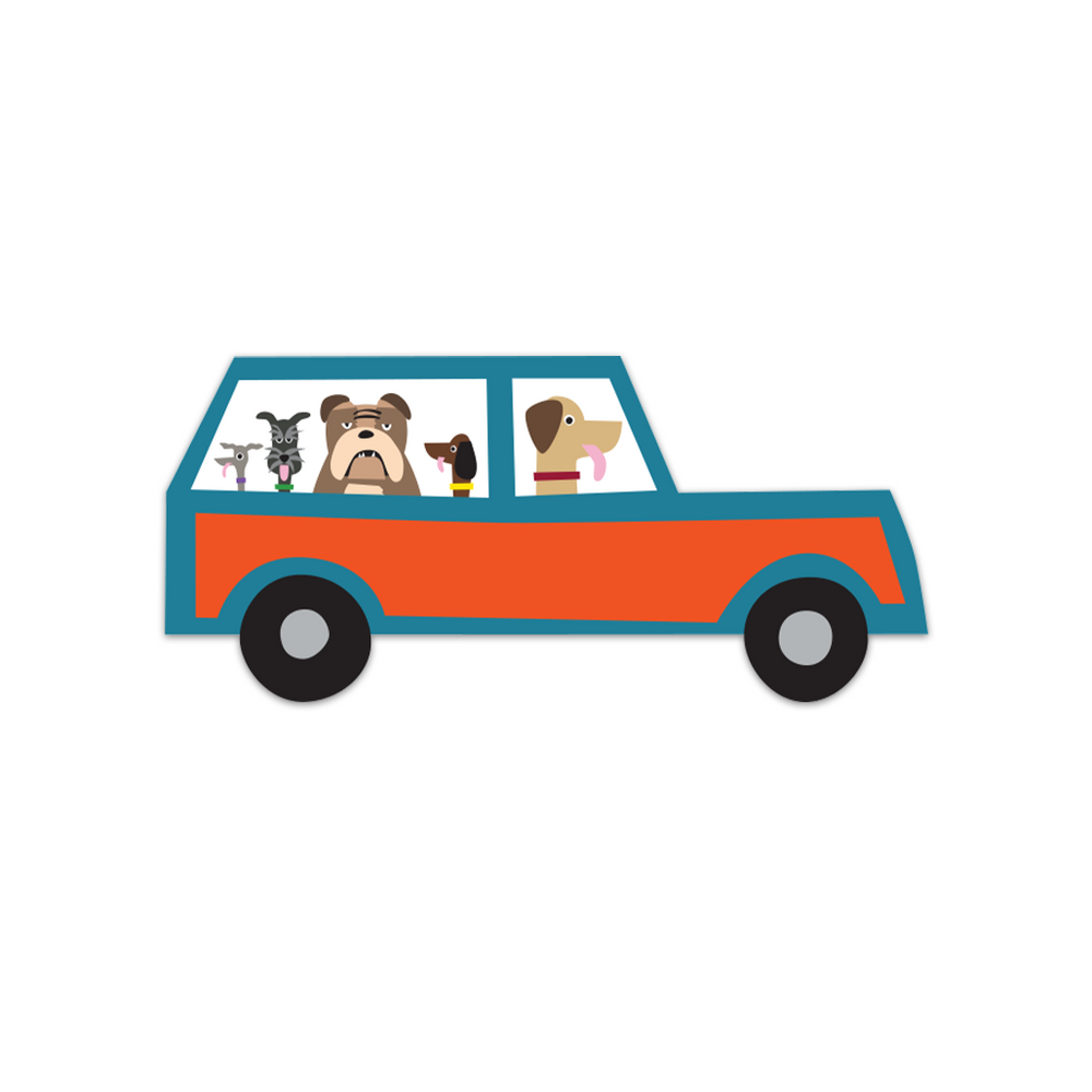 Doggie Wagoneer Sticker