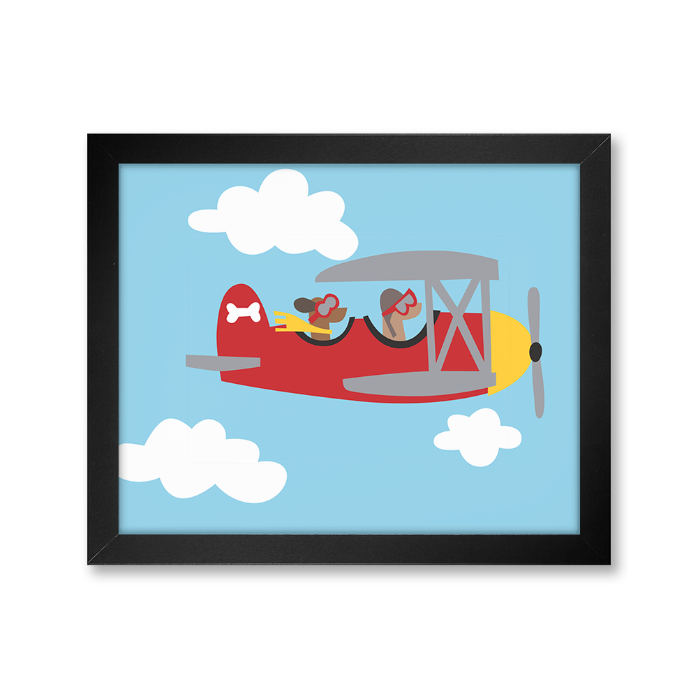 Dogs in Plane, Limited Edition Print
