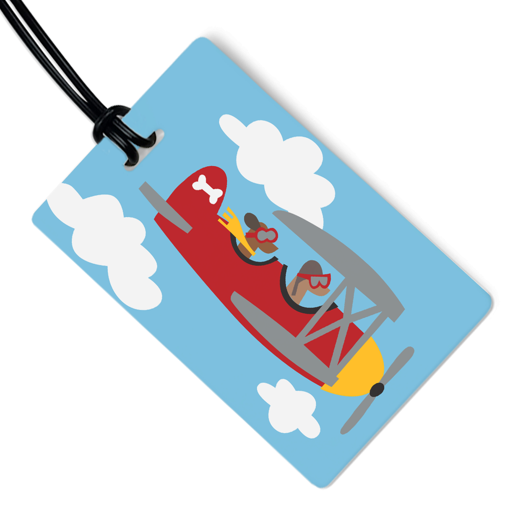 Dogs in Plane Luggage Tag