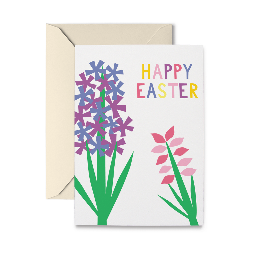 Easter Hyacinths Greeting Card