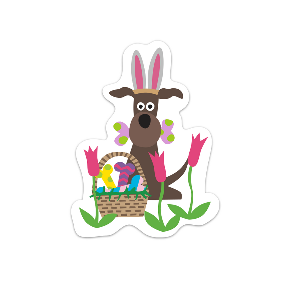 Easter Doggie Sticker