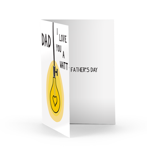 Father's Day Light Bulb Greeting Card