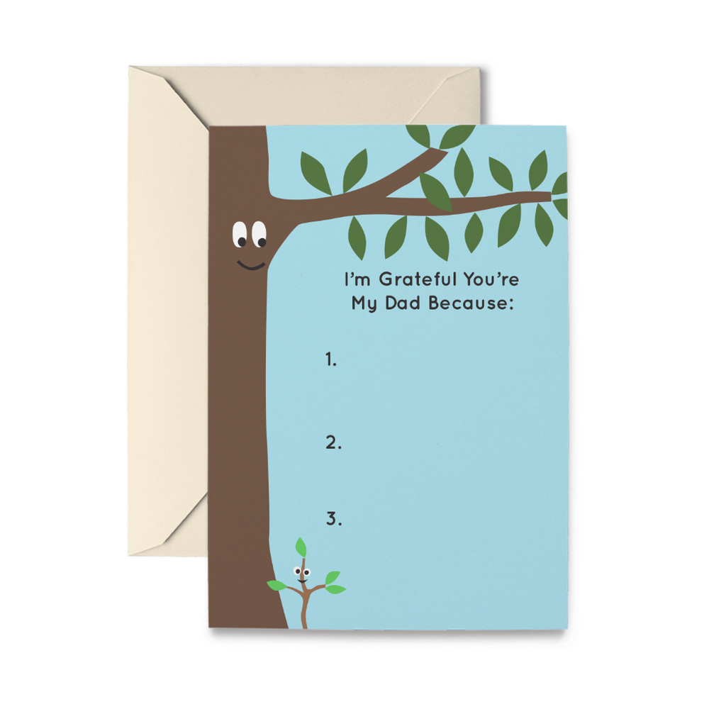 Father's Day Trees Greeting Card