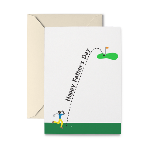 Father's Day Golfer Greeting Card