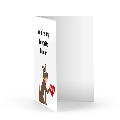 Favorite Human Greeting Card