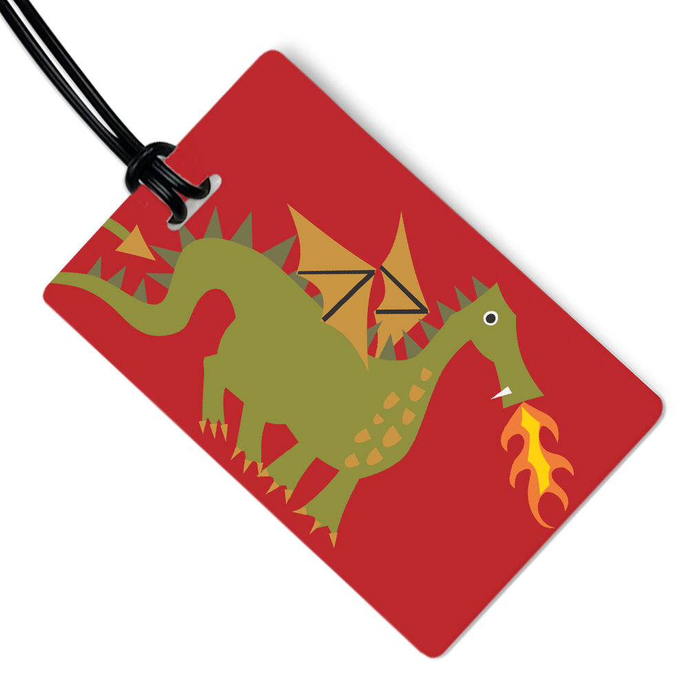Fiery Dragon Luggage Tag