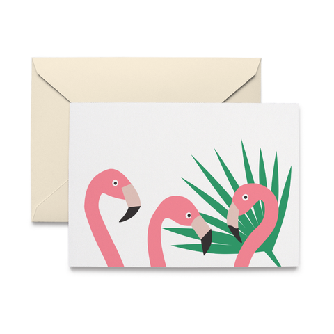 Flamingos Note Cards