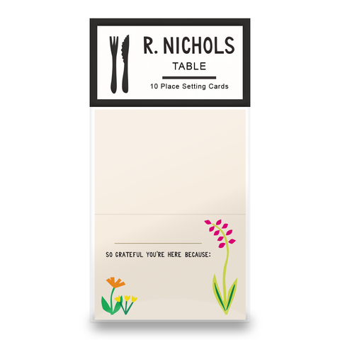 Flowers Grati Place Cards