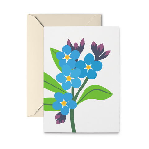 Forget-Me-Nots Greeting Card