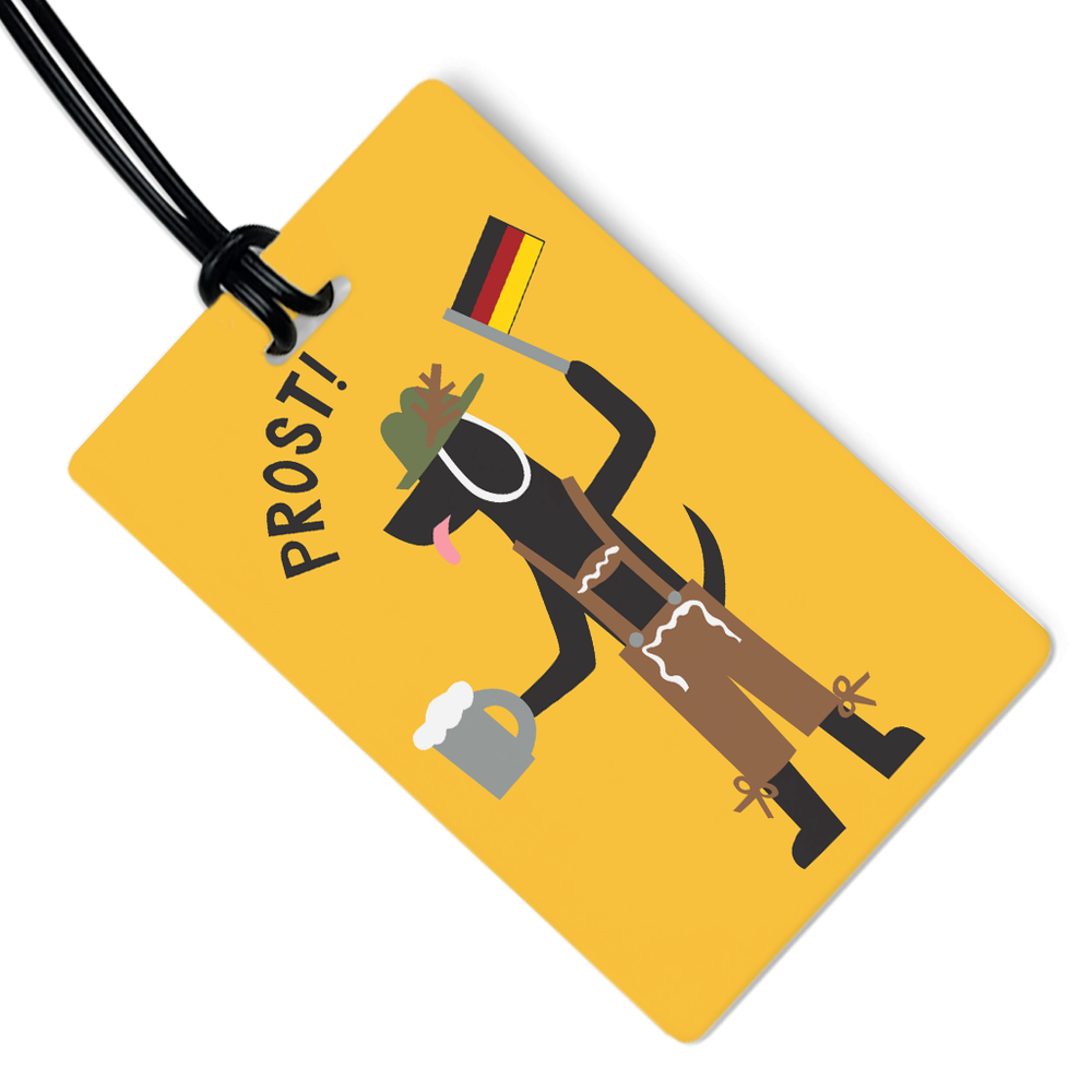 German Dog Luggage Tag
