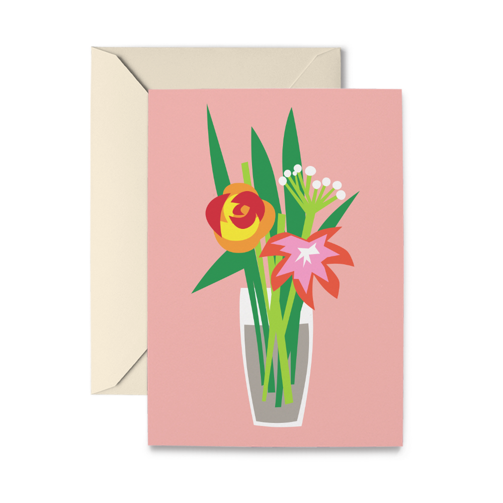 Get Well Flowers Greeting Card