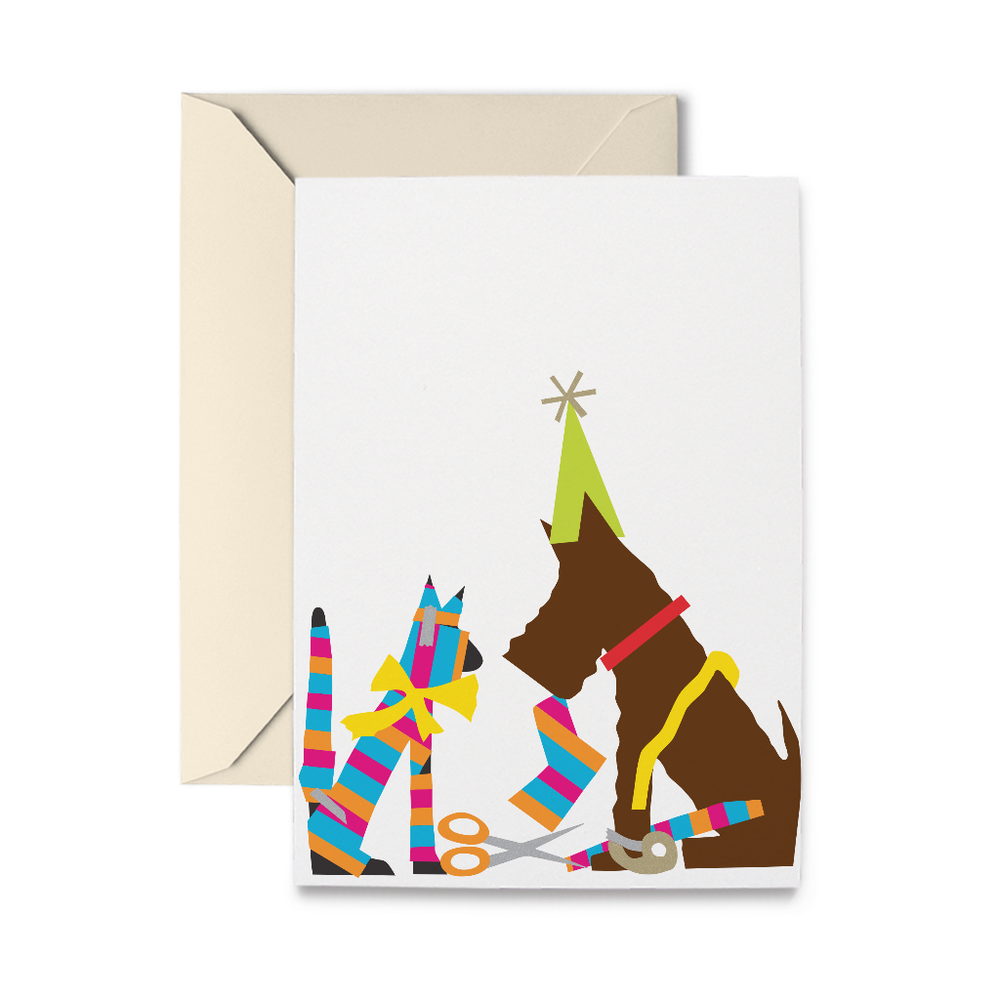 Gift Wrap Greeting Card