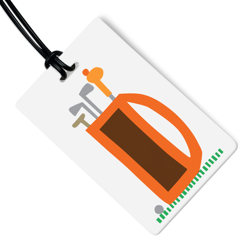 Golf Clubs Luggage Tag