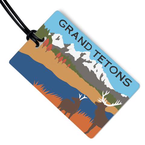 Grand Tetons Luggage Tag