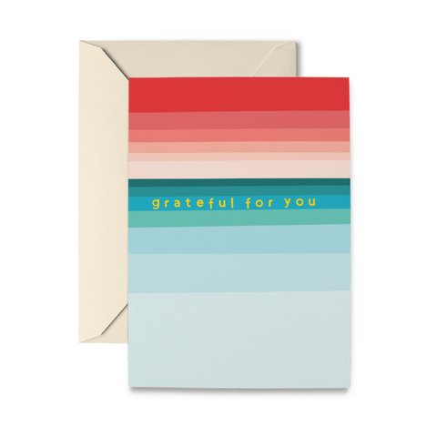 Grateful Stripes Greeting Card