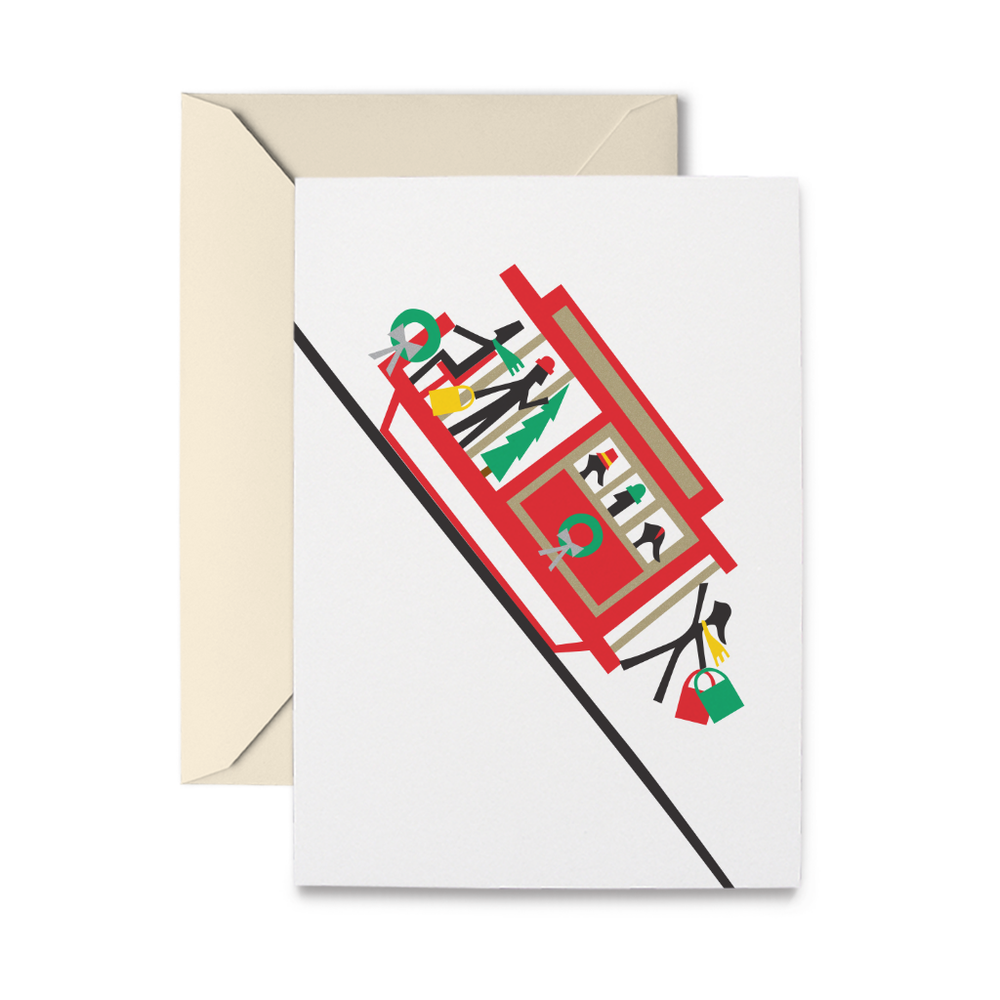 Holiday Cable Car Cards