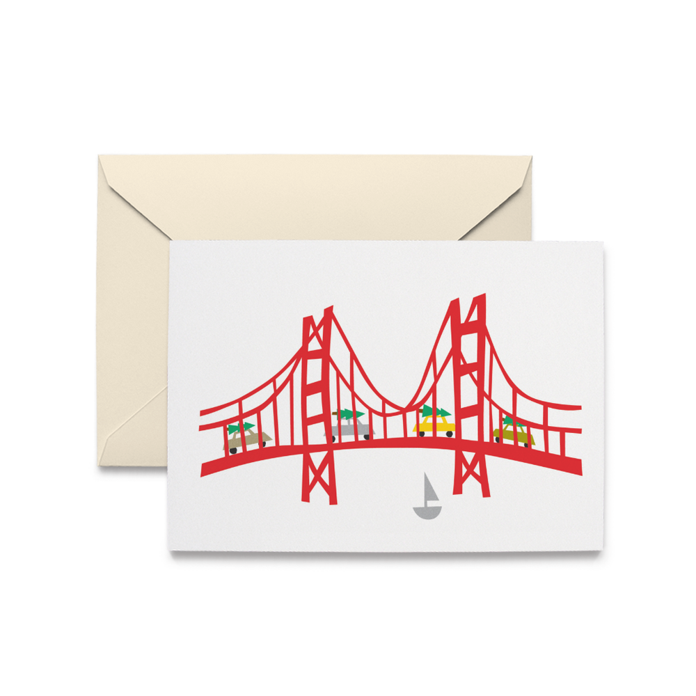 Holiday Golden Gate Bridge Cards