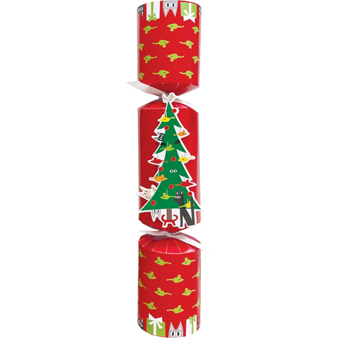 Cats Decorating Tree, Pet Toy Cracker