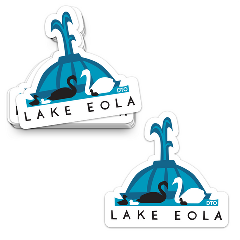 Lake Eola Swans Sticker