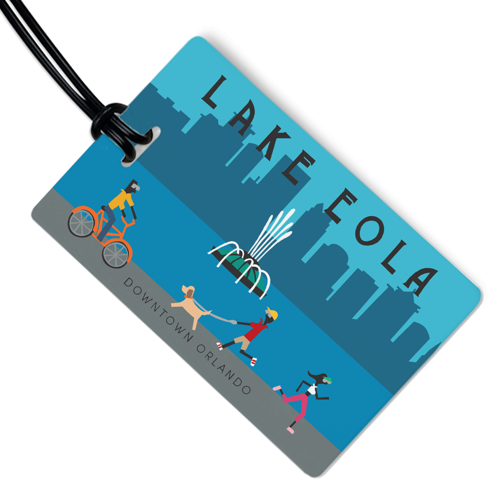 Lake Eola Luggage Tag