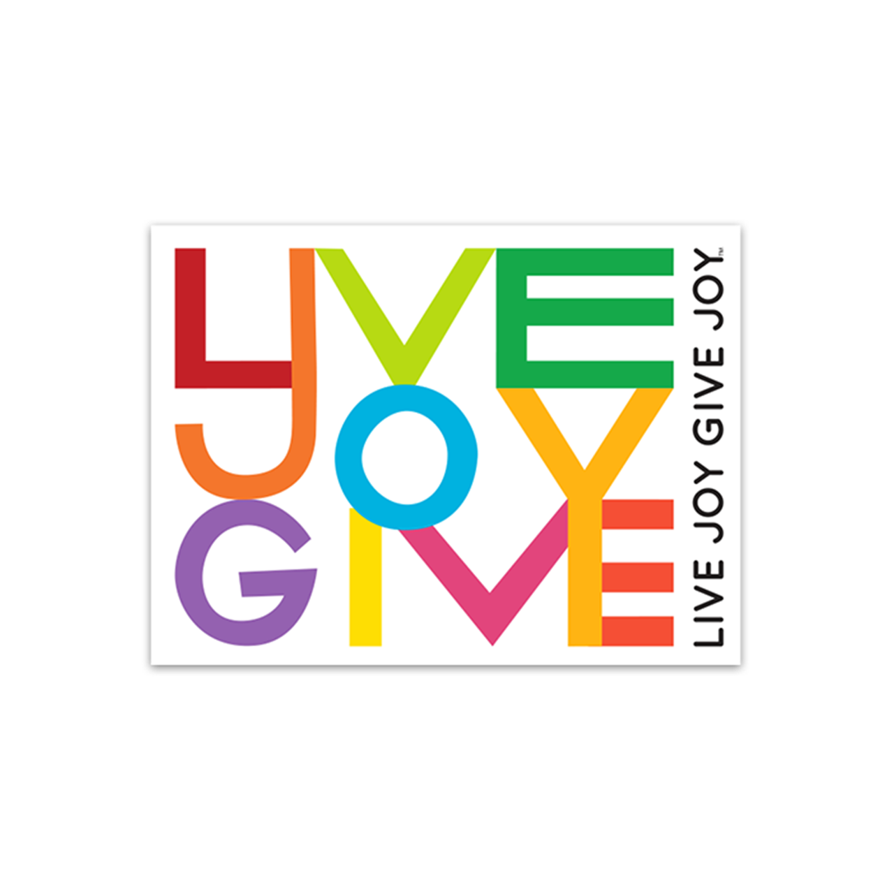 Live Joy Give Joy Sticker